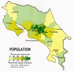 Costa Rica Population Map
