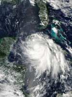 Tropical Storm Isidore south of Cuba