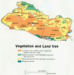 El Salvador Vegetation and Land Use Map