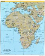 Africa physical map 2003