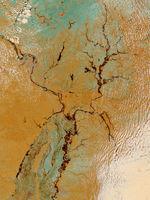 Satellite Image, Photo of James Bay in Spring, Canada