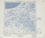 Fukuoka Topographic Map Sheet, Japan 1954