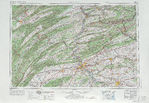 Harrisburg Topographic Map Sheet, United States 1969