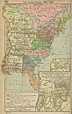 United States Map 1783  - 1803