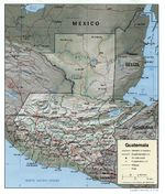 Guatemala Shaded Relief Map