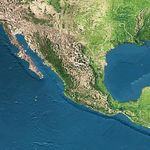 Satellite Image, Photo of Mexico