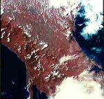 Satellite Image, Photo of Panama Isthmus, Panama