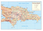Mapa Relieve Sombreado de Rep�blica Dominicana