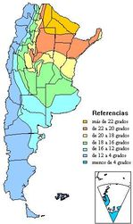 Argentina Temperature Map