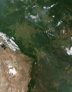 Satellite Image, Photo of Bolivia