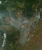 Fires and smoke in Brazil