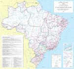 Brazil's Road & Highway Map, South America