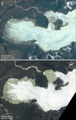 Satellite Image, Photo of San Quint�n Glacier Northern Patagonia, Chile