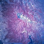 Satellite Image, Photo of Nevados De Chillan, Chile