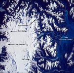 Satellite Image, Photo of the Northern Patagonian Ice Field (NPIF)