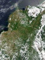 Satellite Image, Photo of Colombia