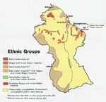 Guyana Ethnic Groups Map