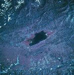 Satellite Image, Photo of Lake Junin, Andes Mountains, Peru
