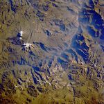 Satellite Image, Photo of Ampato Volcano, Peru