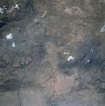 Satellite Image, Photo of Sabancaya, Chachani, El Misti Volcanoes, Peru