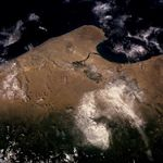 Satellite Image, Photo of Sechura Desert, Peru