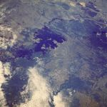 Satellite Image, Photo of Caron� River and Guri Reservoir, Venezuela