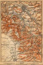 Mapa del Bosque Teutónico, Alemania 1910
