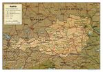 Mapa de Relieve Sombreado de Austria