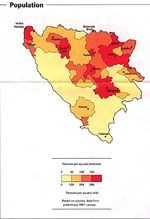 Bosnia and Herzegovina Population Map