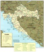 Croatia Political Map