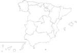 Spain outline map showing its Autonomous Communities