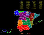 Spain Autonomous Communities and Provinces