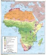 Africa Natural Vegetation Map