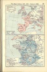 Mapa de Francia en 1453