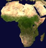 Africa satellite color mosaic image