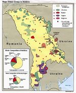 Major Ethnic Groups Map, Moldova