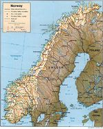 Mapa de Relieve Sombreado de Noruega