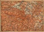 Giant Mountains Map, Poland - Czech Republic 1910