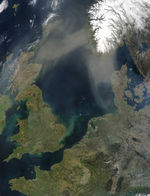 Saharan dust over the North Sea