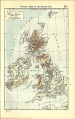 British Isles Physical Map 1911