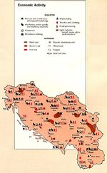 Former Yugoslavia Economic Activity Map