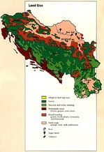 Former Yugoslavia Land Use Map