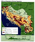 Former Yugoslavia Military Geography Map 1998