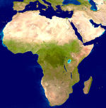 Satellite image, photo of Africa