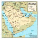 Saudi Arabia Political Map
