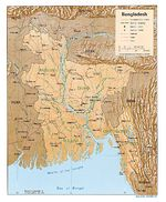 Mapa de Relieve Sombreado de Bangladesh