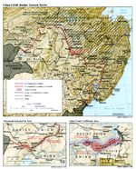 Mapa del Sector Oriental de la Frontera China-Ex URSS 1988