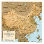 Mapa de Relieve Sombreado de China
