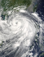 Typhoon Krovanh (12W) approaching China