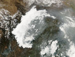 Satellite Image, Photo of Ezequil Ramos Mexia Reservoir, Argentina